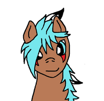 Turquoise Arrow  -front view headshot (colored)- by Alivoir