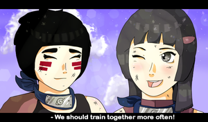 GA: Ren + Naoko - Training at Dusk by Dekkii
