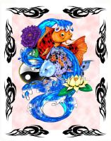 Flow of life print by Inkbytes
