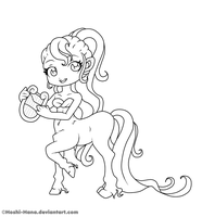Free to colour Lineart ::The musically centaur:: by Hoshi-Hana