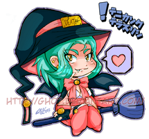 Chibi Bat Winged Witch by gh07