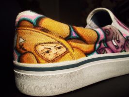 Deadly Teddy II Graffiti Shoe Art by MF-minK
