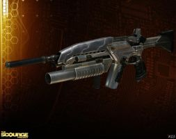 NOGARI ASSAULT RIFLE [The Scourge Project] by Goreface13