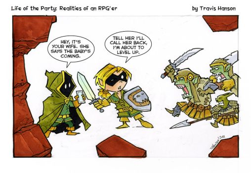 Leveling up.... RPG Comic by travisJhanson