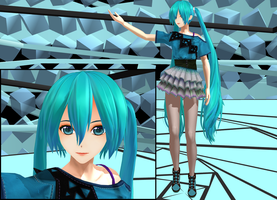 [MMD] Casual Miku + Dl by Beils