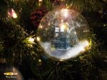Doctor Who holiday wallpaper by Aerindarkwater
