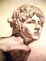 Greek God Apollo: Statue Head by moonlightamber