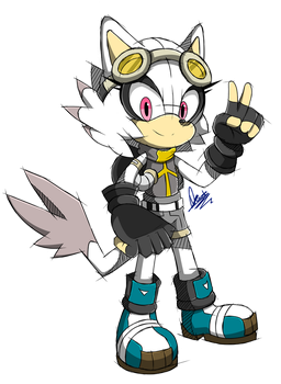 (COMM) 1/2 Sonic Channel Sketch .:White Larva:. by MimiGuerrero