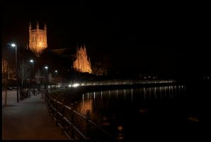 Worcester Cathedral At Night by Art-ography