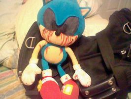 Sonic.EXE plushie :C by xKillErBeatZx