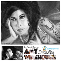 Amy Winehouse Tribute Drawing by MsTemmii