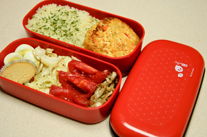 Lobster Cake Bento by Demi-Plum