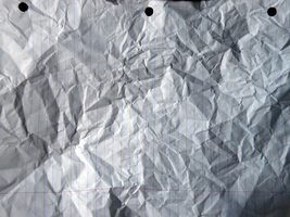 crumpled 3h notebook paper by ninja-pi