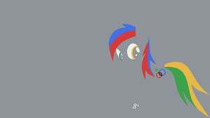 Google+ Pony Minimal Wallpaper by Kitana-Coldfire
