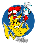.:Pika in the Hat:. by BlissfulGold