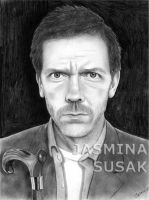 Portrait Drawing  -  Dr.House by JasminaSusak