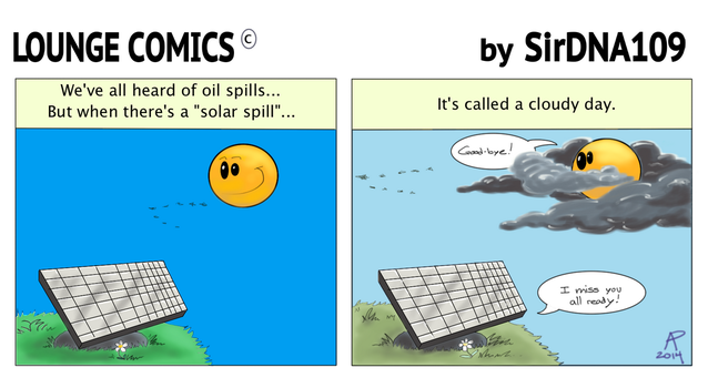 Lounge Comics: Solar Spill by SirDNA109