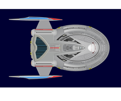 USS TITAN DORSAL VIEW DETAILED by S0LARBABY