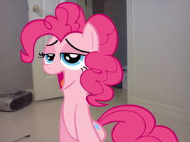 Pinkie Pie why are you looking at me like that? by luisbonilla