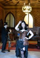 Steampunk pinup by IllyDragonfly