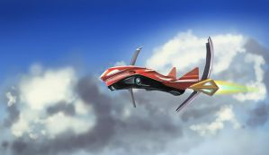 supersonic flight by Dekus