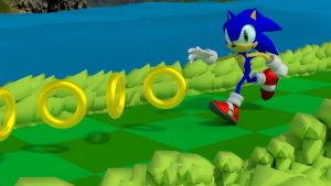 Blender Sonic Running by InvincibleSoul