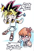 yugi and kaiba chibi by lazarus84