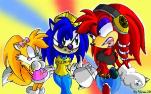Sonic Girl Team by Virus-20