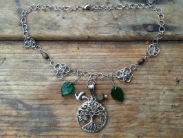 Tree of Life Fairymail Necklace by FaerieForgeDesign