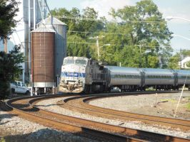 Amtrak 'Northeast Regional' Approaches Culpeper by rlkitterman