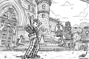 DragonNest Illustration of the old Saint Haven by flamex99