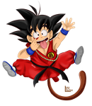 SPEED PAINT - Child Goku by DarkyLu