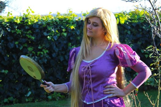 Rapunzel and her Pan by ValeryEvenstar