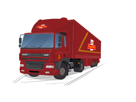 Royal Mail Truck by WolfFoxHybrid