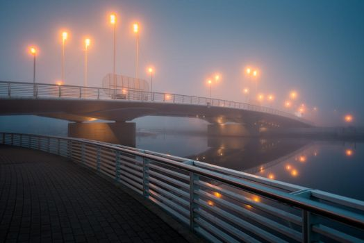 Fog Bridge by MikkoLagerstedt