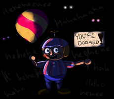 [FNAF] He laughs because of your inevitable doom by Brashgirl901
