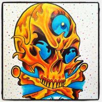 Skull Colored by paintball0531
