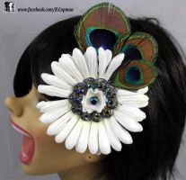 Peacock feathers and a big ole daisy! by LittleShopOfLostArts