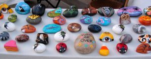 More of my painted rocks by Nevuela
