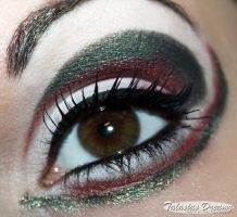 Sailor Pluto inspired make up by Talasia85
