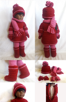 Birthstone Doll Outfit January - details by UnbridledMuse