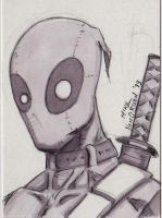 Deadpool Sketch Card Feb by MikeVanOrden