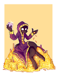 Commission: Shady Shopkeeper by SuperflatPsychosis