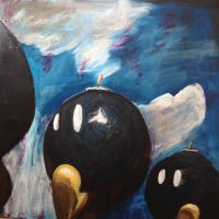 Bob-omb Battlefield Painting by swong87