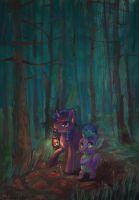 In the creepy forest. by SatynaPaper