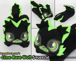 Lime Rave Wolf Squeezie! by lemonbrat