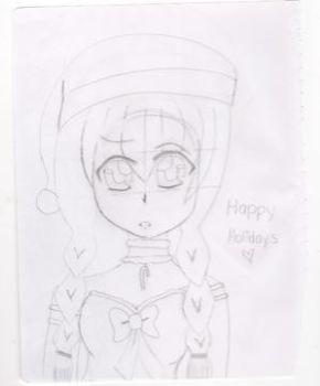 unfinished holiday mew mew really late by Lex2cute13