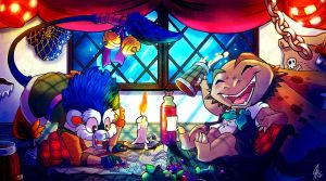 Treasure Hunters by Paper-Star-Zombie