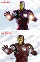 Iron Man with Ref by StevenWilcox