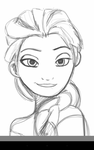 Elsa (sketch) by BeckyRawr